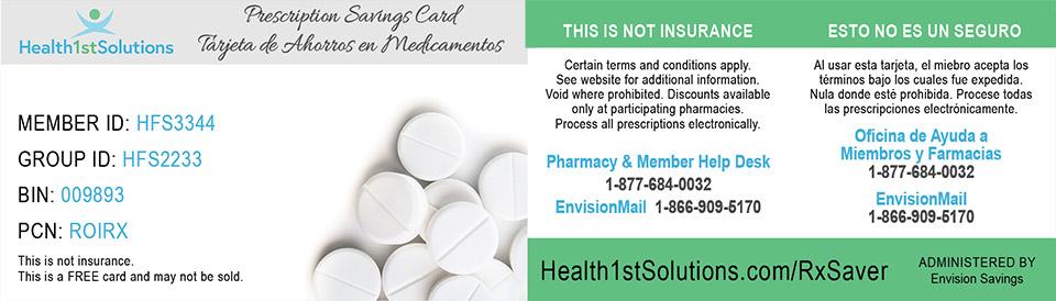 Discount Prescription Card – Health First Solutions